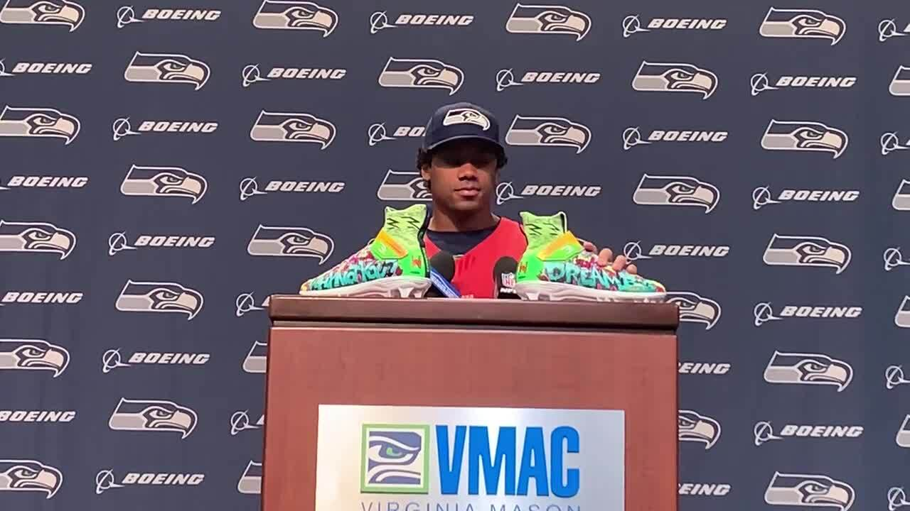 Russell Wilson explains his My Cause My Cleats shoes for Seahawks game Sunday: Why Not You, Dream Big