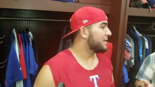 Jose Trevino on baby, big league debut