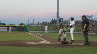 Rafael Palmeiro flies out to right field in second at-bat for Cleburne