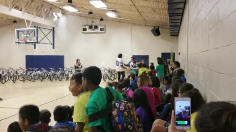 DeMarcus Lawrence and Tyrone Crawford at Boys and Girls Club