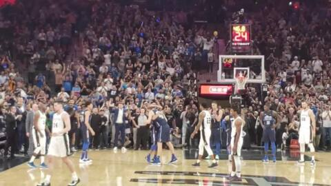 Watch Dirk Nowitzki make the final shot of his career