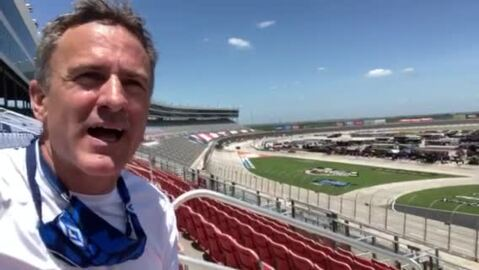 Watching the Xfinity NASCAR race solo at Texas Motor Speedway
