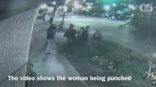 Woman attacked by a large group in Dallas