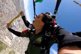 Hanna Battah's California skydiving adventure