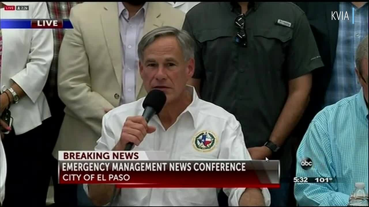 Governor Greg Abbott says 20 people have died in El Paso