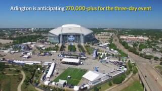 The NFL Draft Experience from above: Drone footage at AT&T Stadium