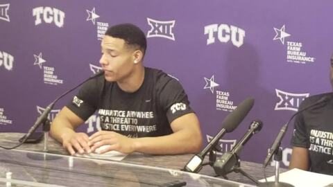 TCU's Desmond Bane, Kouat Noi react to Wednesday's win over Texas