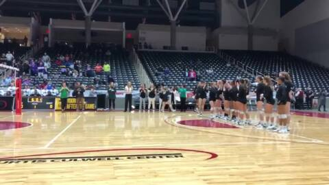 Kennedale volleyball introduced at state tournament