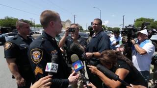 Bank shooting suspects still at large after home search