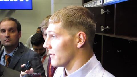 Leighton Vander Esch wasn't happy he was held out of second half after neck injury
