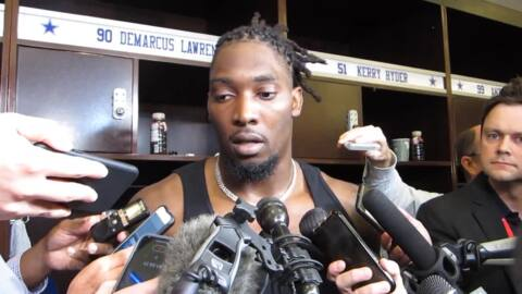 DeMarcus Lawrence on playing with banged up teammates: 'It's major motivation for all their teammates'