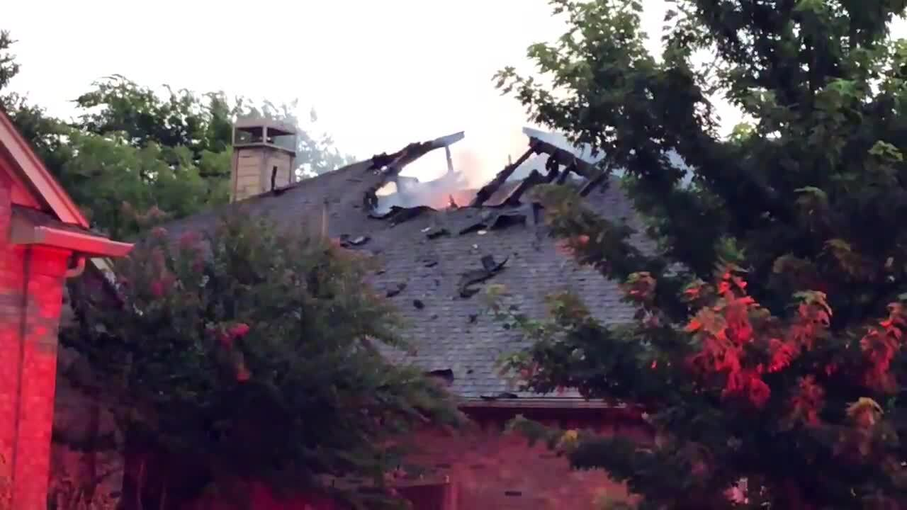 Lightning suspected in house fires across North Texas in Wednesday night thunderstorms