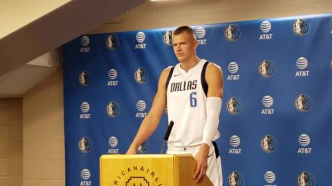 Bulked up Kristaps Porzingis sees finish line after long injury recovery