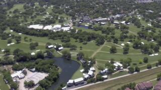 The Colonial golf course from above