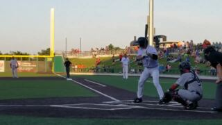 Watch Rafael Palmeiro's first at-bat for Cleburne