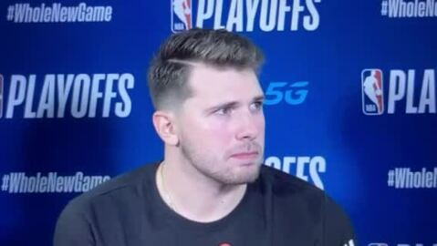 Doncic injured in Game 3 loss; status unknown for Game 4