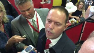 Chad Brown not happy with Good Magic's Preakness