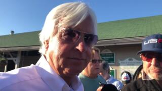 Bob Baffert discusses Justify's final work for Belmont Stakes