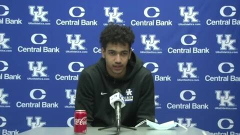Jacob Toppin says UK trying to shake off Tuesday's performance