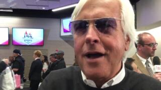 His horse is the favorite, but Bob Baffert was late to the Kentucky Derby draw