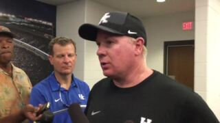 What did Mark Stoops think of Kentucky football's second scrimmage?