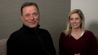 Billy Gillispie and Ericka Downey sit down before surgery