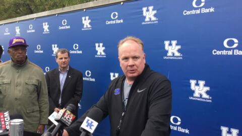 UK's Mark Stoops asked about NCAA allowing players to benefit from name, image