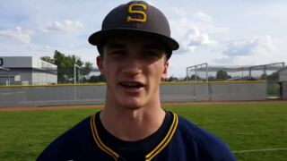 Southridge junior Nick Grade talks about his bases-clearing double in the second inning