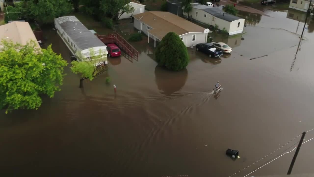 Drone video of flooding in Scott City, Kansas | The Wichita Eagle