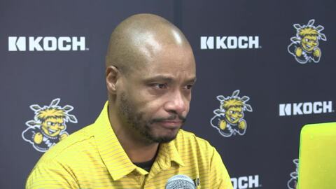 Wichita State basketball coach Isaac Brown previews keys to the game at Memphis