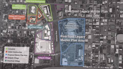 Century II in limbo as planners craft riverfront proposals for apartments, offices