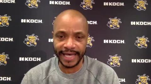 Watch Wichita State basketball coach Isaac Brown preview WSU's game against Tulsa