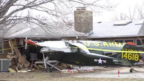 Bird Dog plane crashes into house