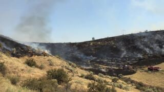 Boise Foothills fire: structures threatened