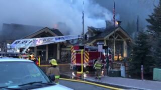 Firefighters battle blaze at Ketchum's Warm Springs Lodge