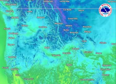 Watch the cold front move across Idaho
