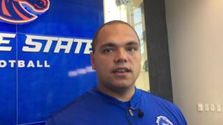 Former Boise State players Winston Venable and Andrew Woodruff talk about returning as staff members