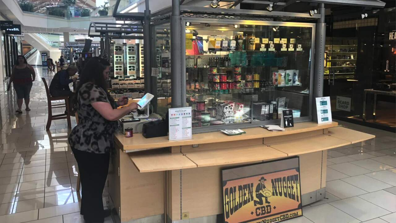 CBD products now available at Boise mall Golden Nugget kiosk