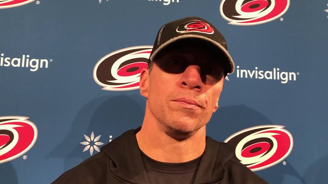 Warren Foegele made the Canes' roster last year, but he still has to 'make this team'