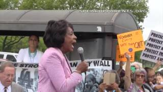 Rep. Maxine Waters speaks out at 'Families Belong Together' rally