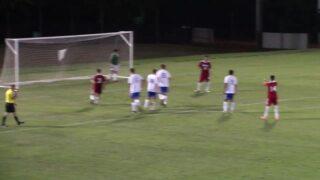 Newton-Conover's Francisco Tapia converts the PK