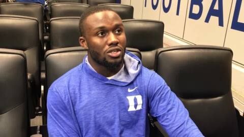 Duke linebacker Koby Quansah talks about the Notre Dame offense after the Irish defeat Duke 38-7.