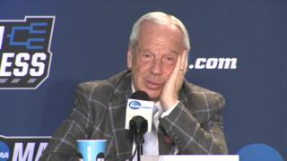 UNC's Roy Williams talks about playing with his grandson on the bench