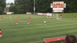 Terry Sanford's Talia Parrous scores a golazo from 25 yards out in East-West All-Star game