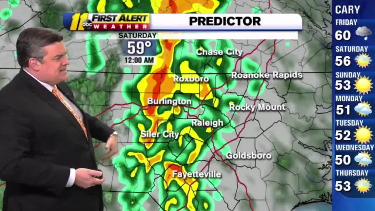 Severe storms could bring isolated tornado to Triangle. Here's the weekend forecast