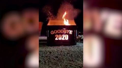 Goodbye to 2020: New Mexico city marks end of year with actual dumpster fire