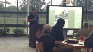 Hear what Northwestern Trojans NFL QB Mason Rudolph told Rock Hill youth football coaches