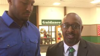 Former Gamecocks, Rock Hill High football player pumps up Dutchman Creek students on first day