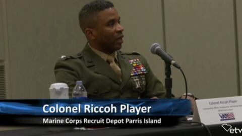 Col. discusses possible closure of MCRD Parris Island at SC Gov's commanders meeting
