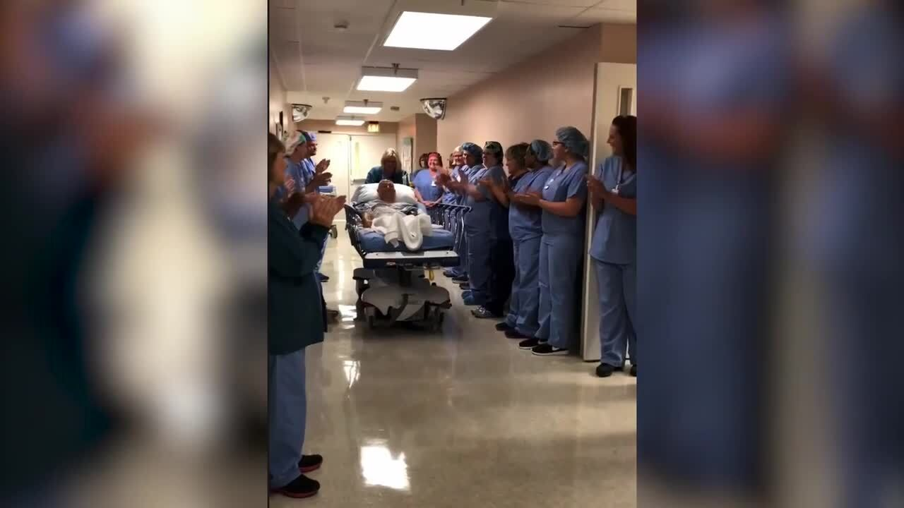 Parris Island Marine missed his graduation for surgery. Hospital staff celebrated him anyway